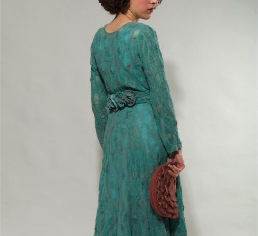 Anne Rogers (Main Image) nuno dress, clutch and hat 'mother of the groom'