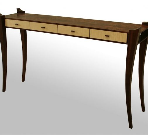 David Ian Smith - Walnut & Sycamore Hall table