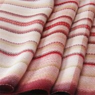 Detail of Patesserie Cherry handwoven in 100% silk