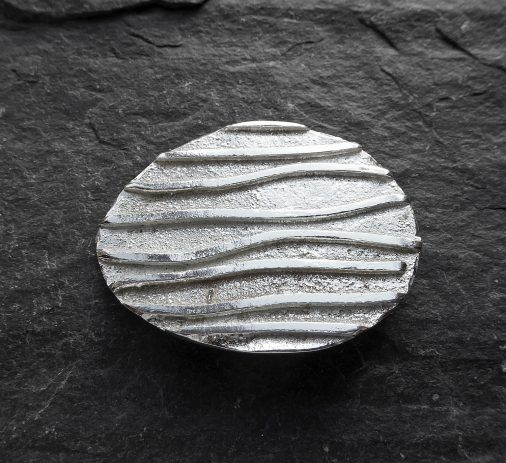 UAP - Brooch 'Ripples' Series - sterling silver fused with square wire 4cm wide10.18