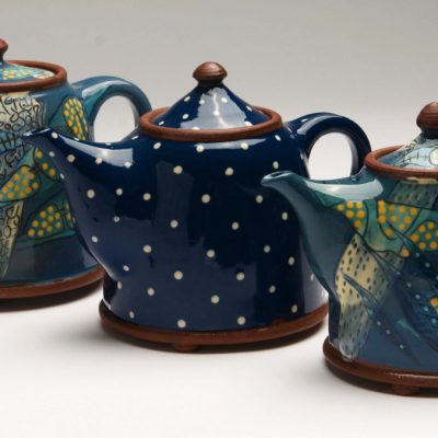 Three teapots