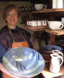 Bridget Williams - with finished bowl