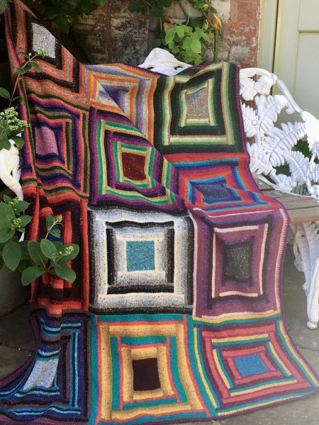 Alison Dupernex, Jewel Garden throw, Donegal and Shetland wool